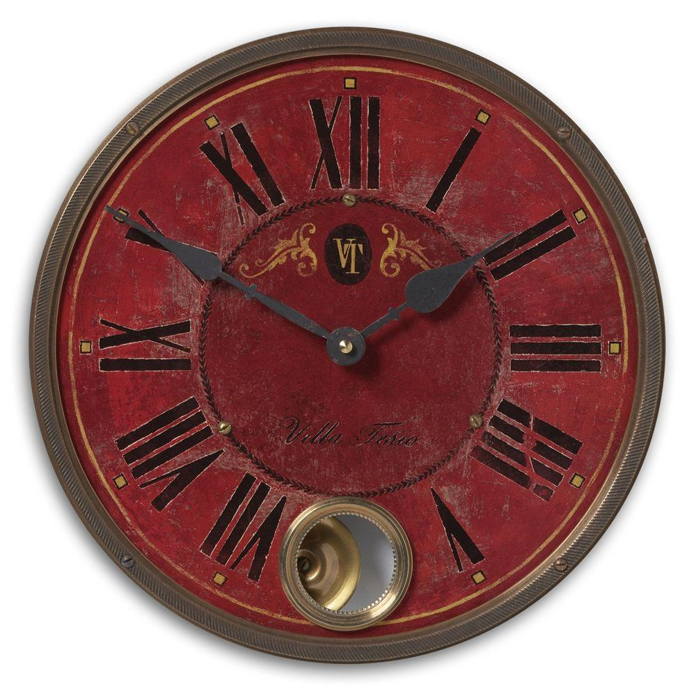 Global Direct 11 in. Antique Reproduction Round Wall clock-DISCONTINUED