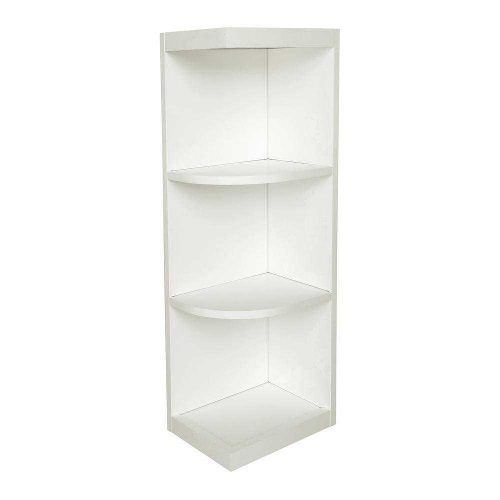 White Kitchen Cabinet Shelves Plywell Ready to Assemble 9x42x12 in. Shaker Wall End Open Shelf