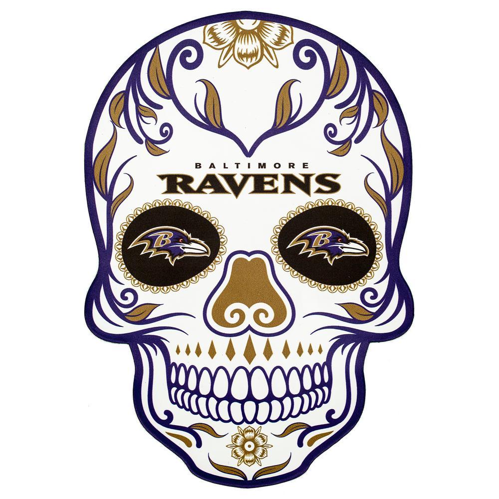 NFL Baltimore Ravens Outdoor Skull Graphic- Large