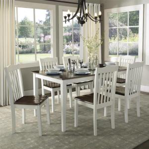 Peachy Dorel Living Shiloh Dark Walnut White Dining Chairs Set Caraccident5 Cool Chair Designs And Ideas Caraccident5Info