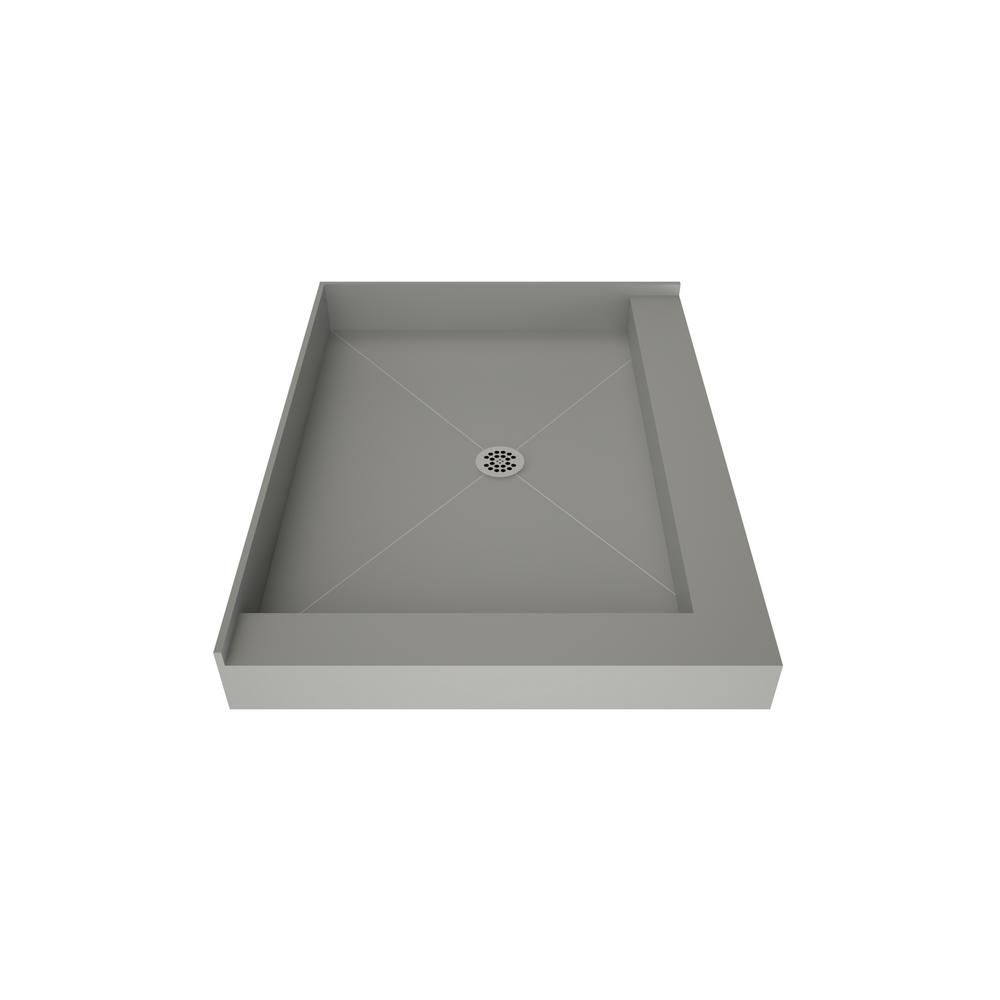 Tile Redi Redi Base 48 in. x 37 in. Double Threshold Shower Base with Center Drain