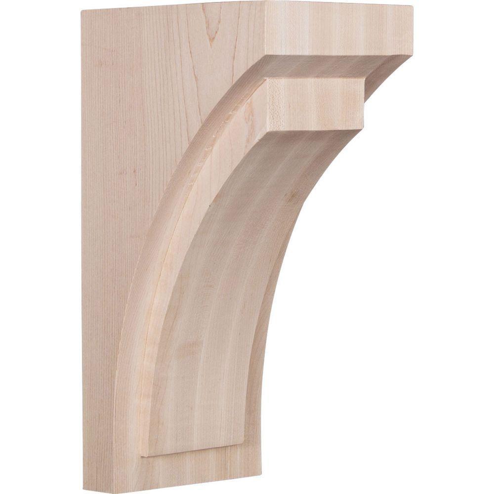 5 in. x 12 in. x 6-3/4 in. Rubberwood Large Felix Wood Corbel