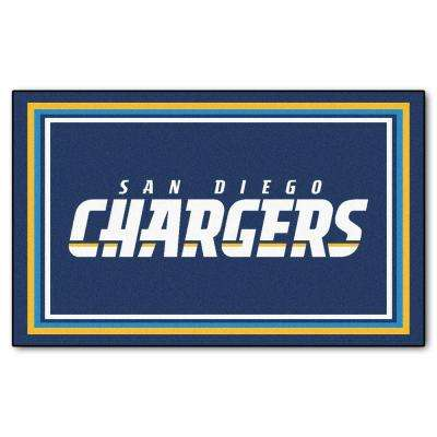 San Diego Chargers 4 ft. x 6 ft. Area Rug