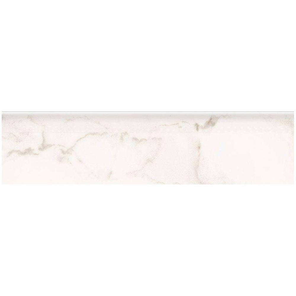 Marazzi Vitaelegante Bianco 3 In X 12 Glazed Porcelain Bullnose Floor And Wall