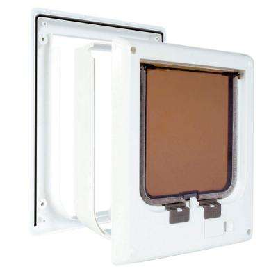 5.75 in. x 6 in. Electromagnetic 4-Way Cat Door