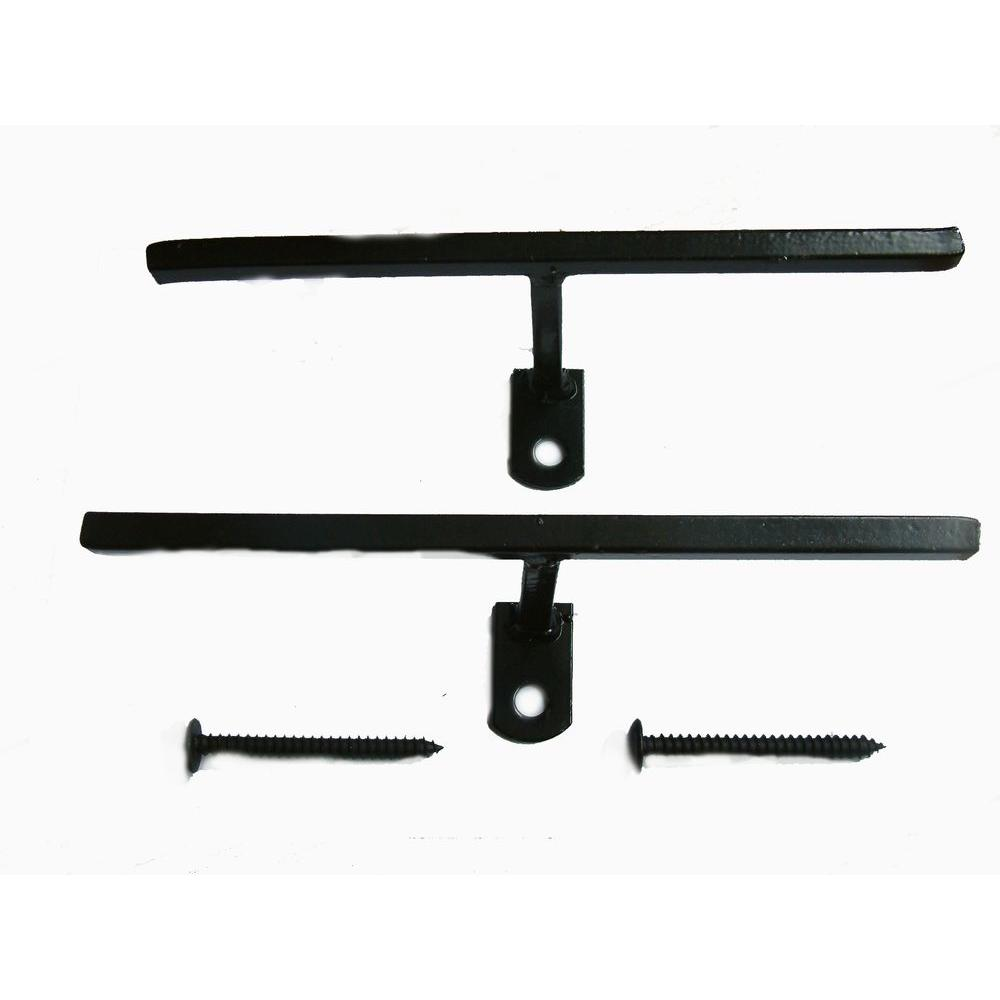 Black Window Bar T-Bracket Connectors (2-Pack)