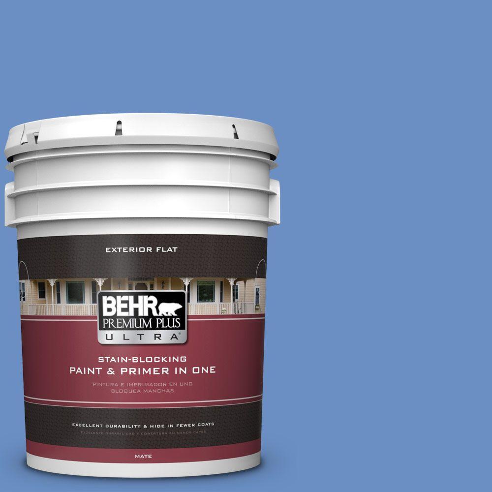 BEHR Premium Plus Ultra 5-gal. #590B-5 Purple Hyacinth Flat Exterior Paint