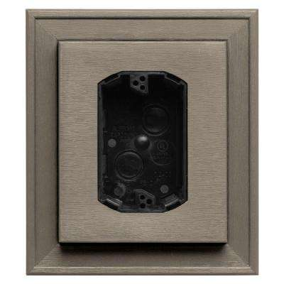 7 in. x 8 in. #097 Clay Electrical Mounting Block