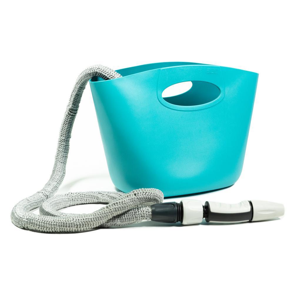 Aquapop 1 in. Dia. x 50 ft. Mini Extendable Hose Kit in Blue
