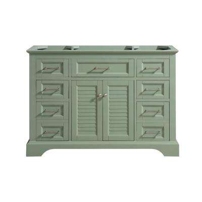 Colton 48 in. W x 21.5 in. D x 34 in. H Bath Vanity Cabinet Only in Basil Green