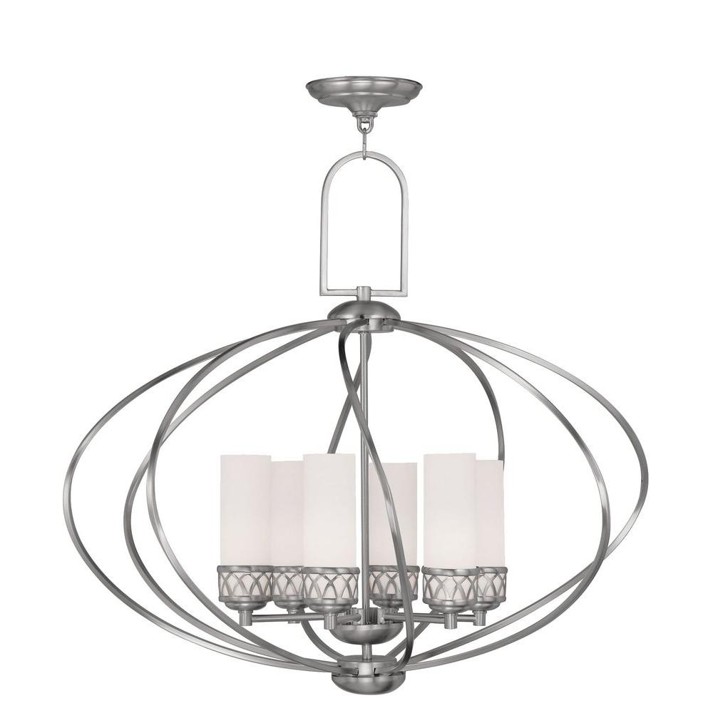Livex Lighting Providence 6-Light Brushed Nickel Incandescent Ceiling Chandelier  sc 1 st  The Home Depot & Livex Lighting Providence 6-Light Brushed Nickel Incandescent ... azcodes.com