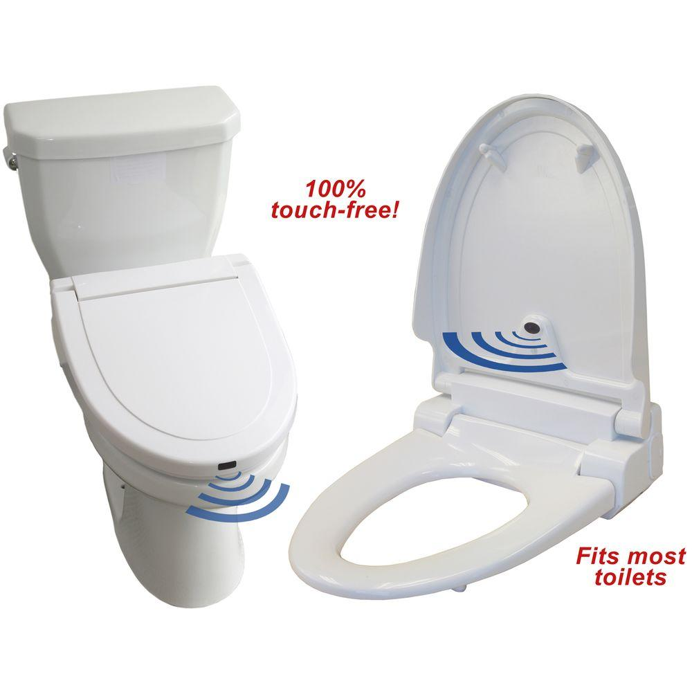 Prime Itouchless Elongated Standard Closed Touch Free Sensor Controlled Automatic Front Toilet Seat In White Evergreenethics Interior Chair Design Evergreenethicsorg
