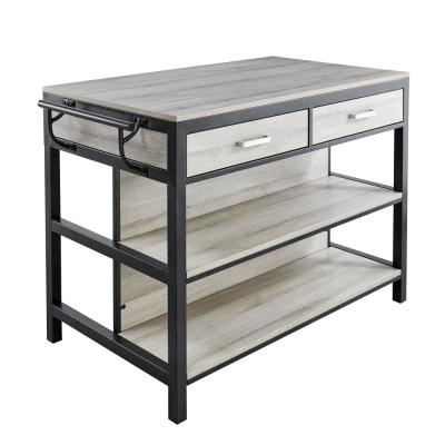 Carson Driftwood Counter Kitchen Table