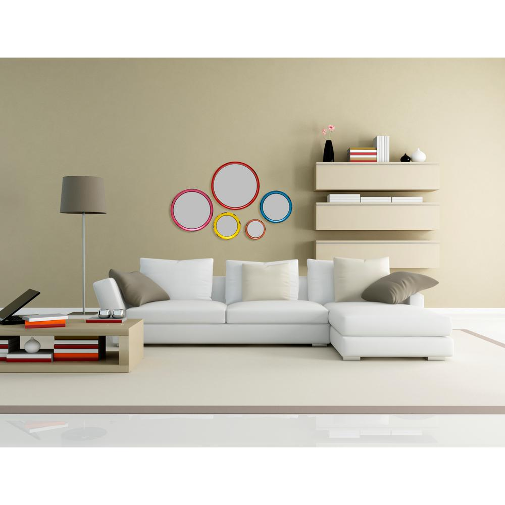 Elements 5 Piece Round Decorative Wall Mirror Set