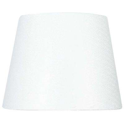 Mix & Match White Geometric Watermark Round Accent Shade