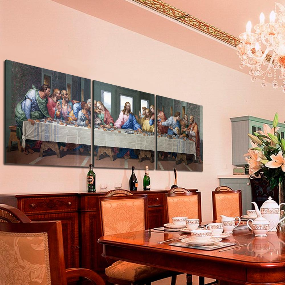 Last Supper  Printed Wall Art & Furinno 24 in. x 72 in.