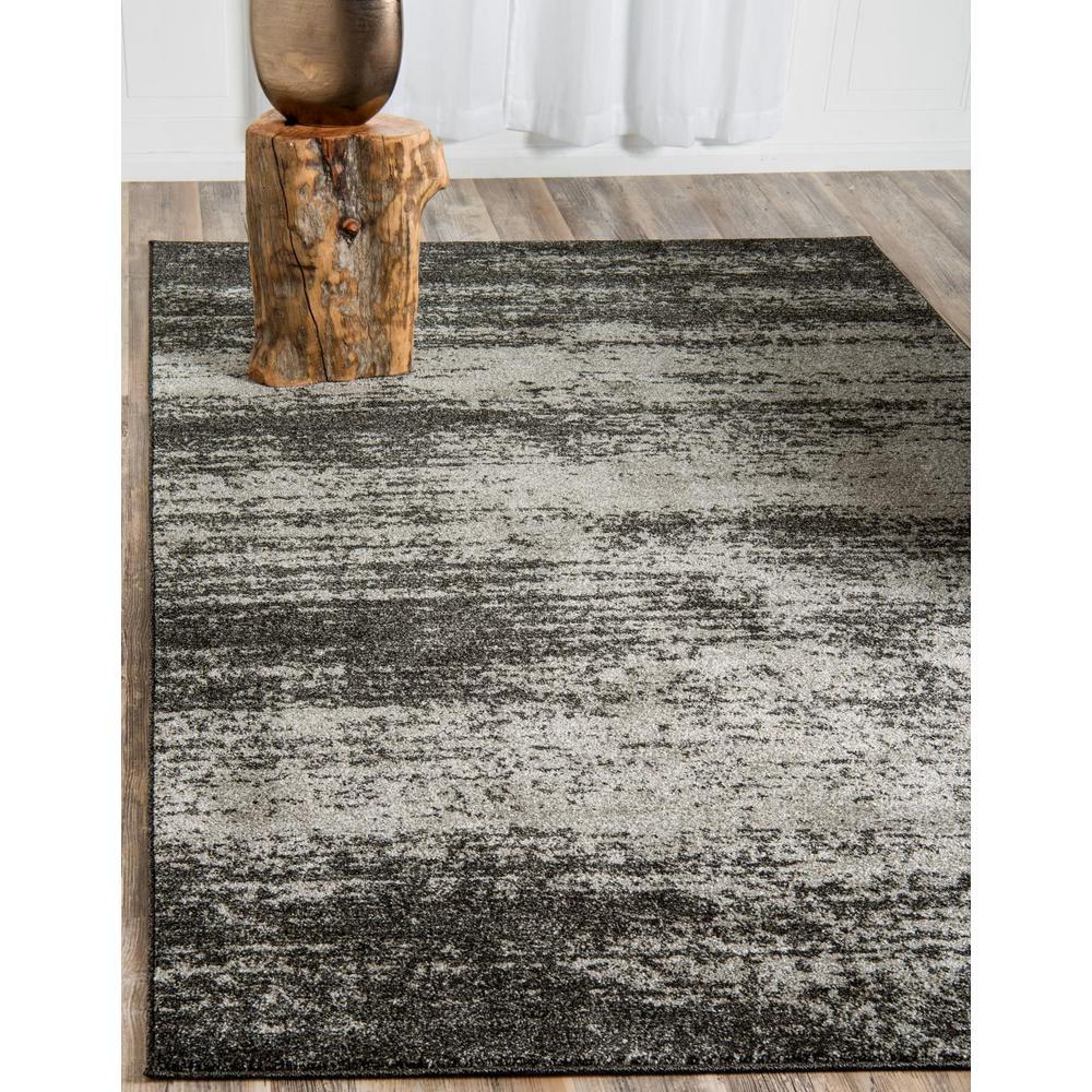 Unique Loom Del Mar Lucille Dark Gray 6 0 X 9 0 Area Rug 3132838 The Home Depot
