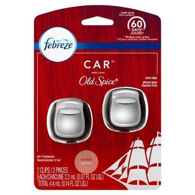 0.14 oz. Old Spice Scent Car Vent Clip Air Freshener (2-Count)
