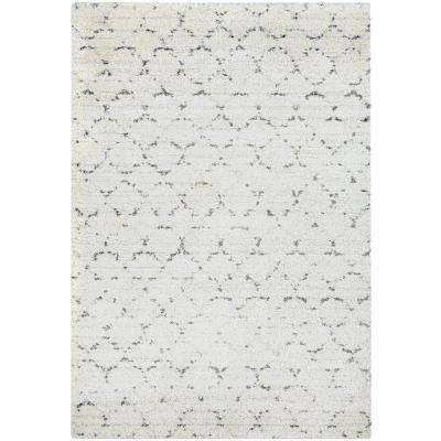 Bromley Davos Snow-Brown 9 ft. x 13 ft. Area Rug