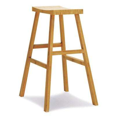 Erica 30 in. Caramelized 100% Solid Classic Bamboo Bar Stool (Set of 2)