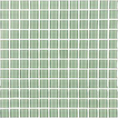 Metro Celery Green 12 in. x 12 in. x 6 mm Glass Mosaic Tile