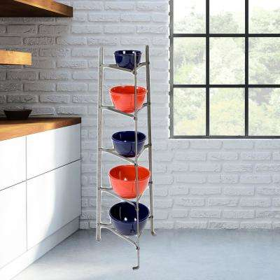 5-Tier Hammered Steel Standing Unassembled Cookware Stand