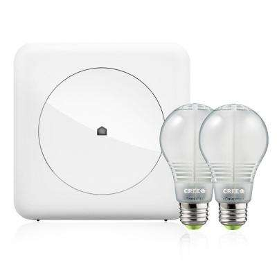 Smart Home Convenience Kit with Wink Hub and 2 Cree Connected LED Bulbs