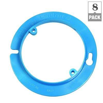 4 in. Blue Nonmetallic Round Plaster/Mud Ring for Octagon Ceiling Box (Case of 8)