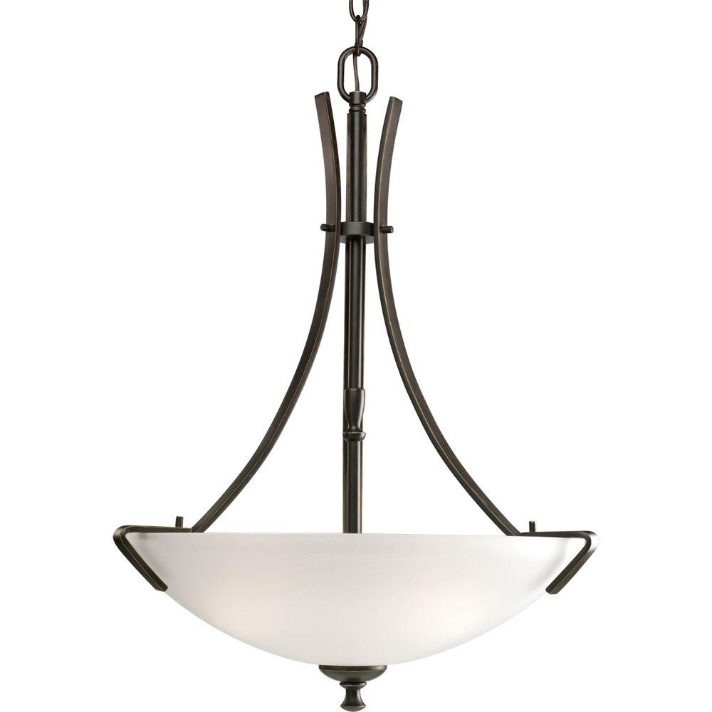 Progress Lighting Wisten Collection 3 Light Brushed Nickel Foyer Pendant P3757 09    The Home Depot