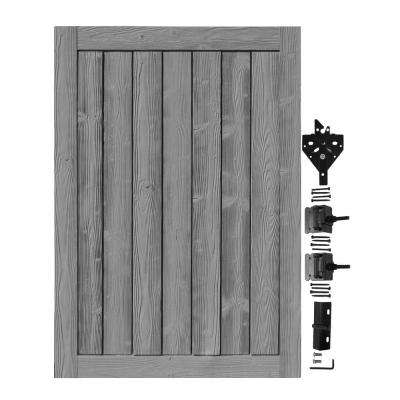 4 ft. W x 6 ft. H Ashland Nantucket Gray Composite Privacy Fence Gate