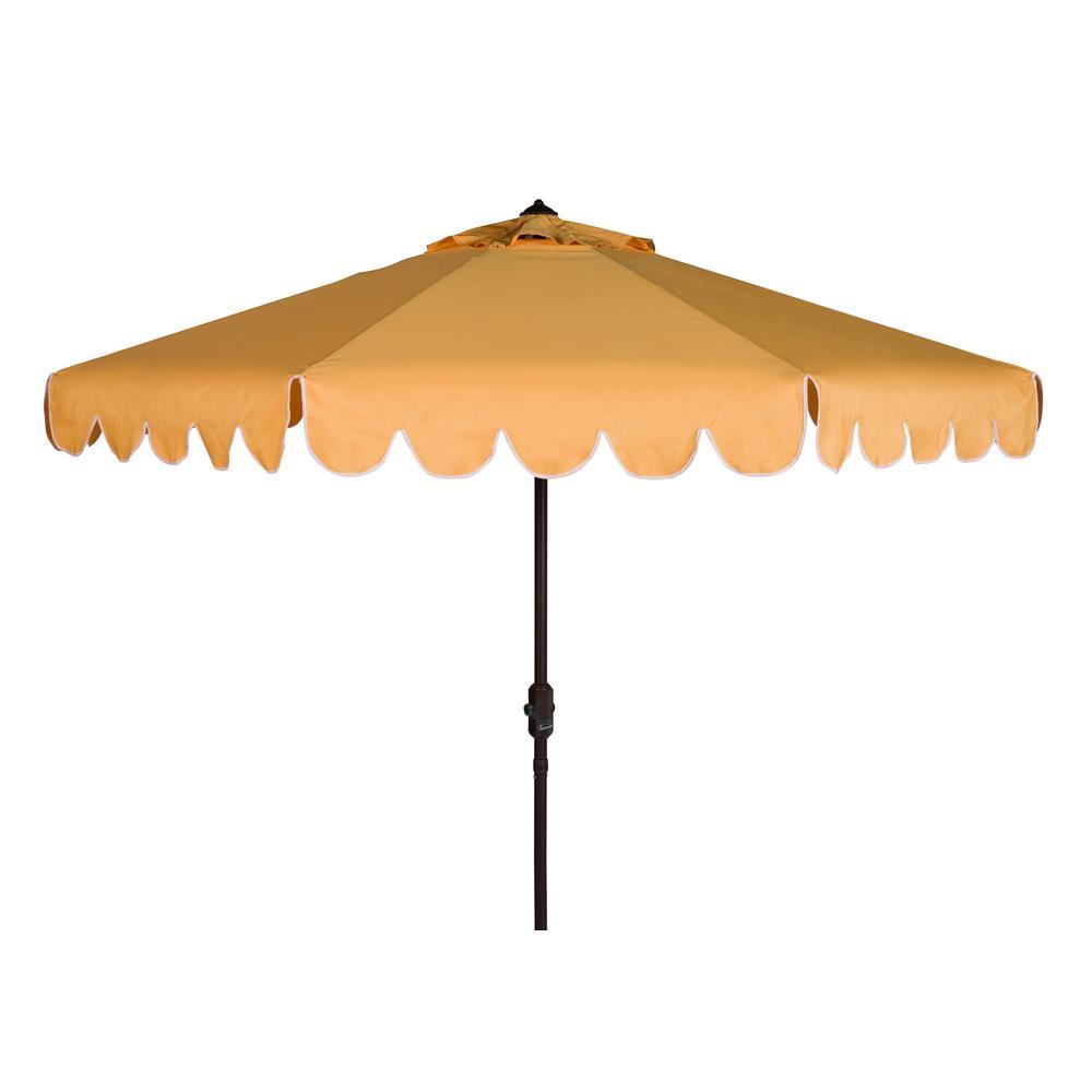 Venice 9 ft. Aluminum Market Tilt Patio Umbrella in Yellow/White