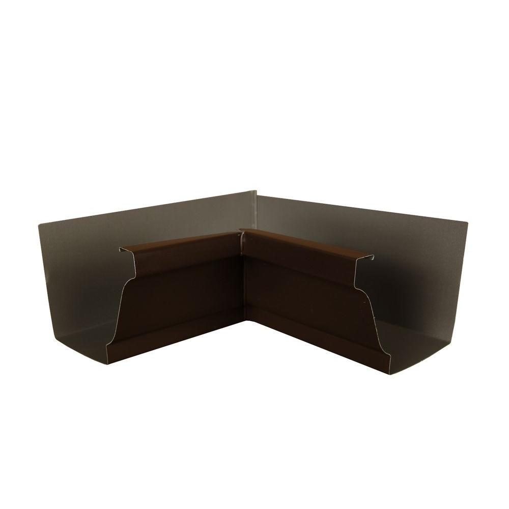 Amerimax Home Products 6 In Musket Brown A Aluminum Inside Box Gutter Miter 6inmamb The Home Depot