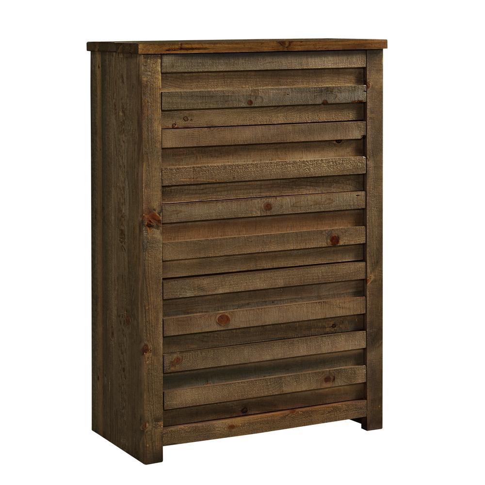 Melrose 5-Drawer Driftwood Chest