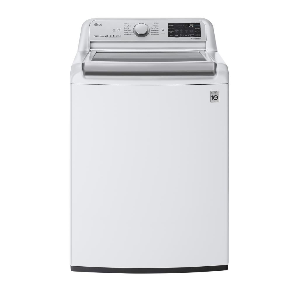 LG Electronics 5.5 cu. ft. High Efficiency Mega Capacity Smart Top Load Washer with TurboWash3D and Wi-Fi Enabled in White, ENERGY STAR