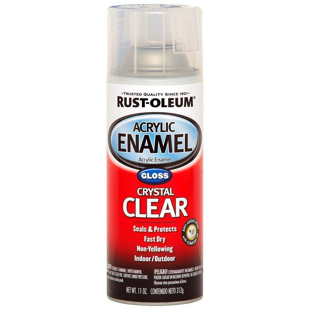 11 oz. Acrylic Enamel Gloss Crystal Clear Spray Paint (6-Pack)