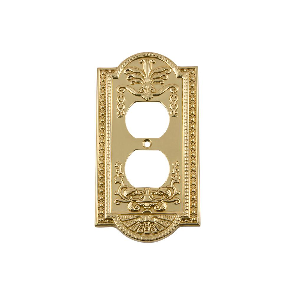 Nostalgic Warehouse Meadows Switch Plate with Outlet in Unlacquered ...