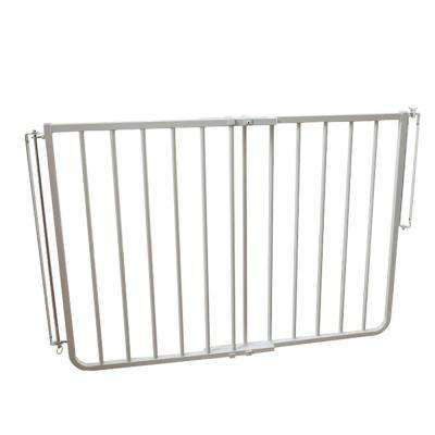 30 in. H x 27 in. to 42.5 in. W x 2 in. D Outdoor Safety Gate in White