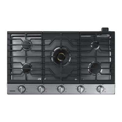 36 in. Gas Cooktop in Stainless with 5 Burners including Dual Brass Power Burner with Wi-Fi