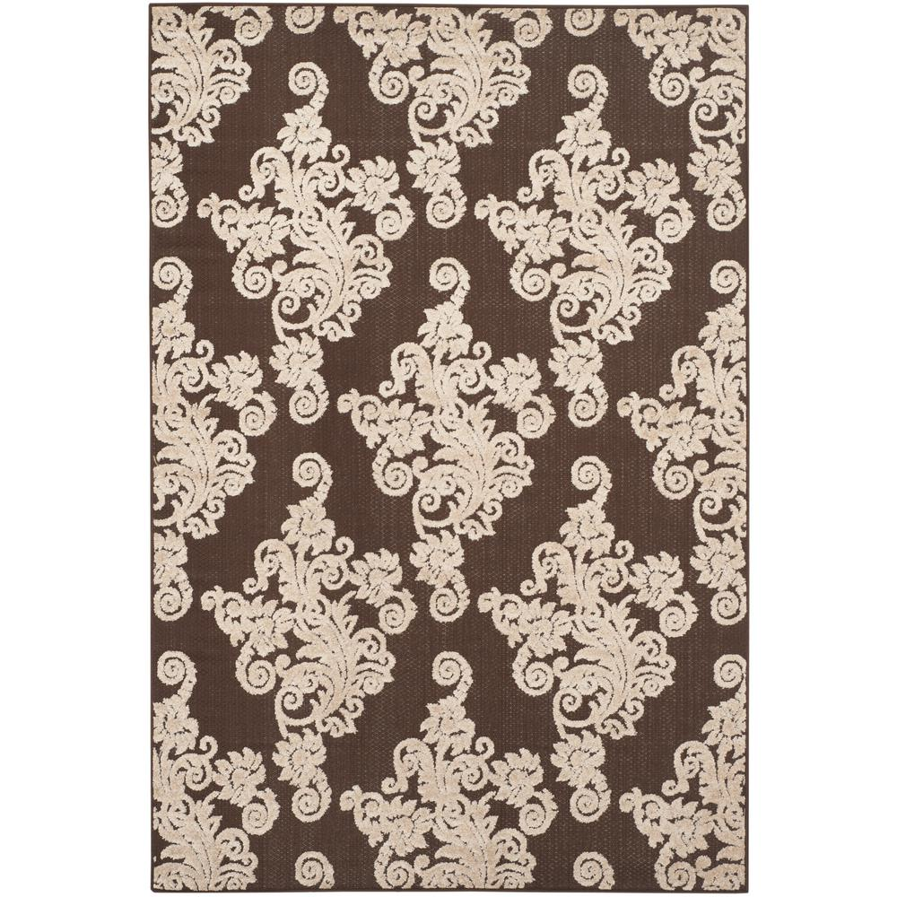 Safavieh Cottage Indoor Outdoor Brown Beige 4 Ft X 6 Ft Area Rug