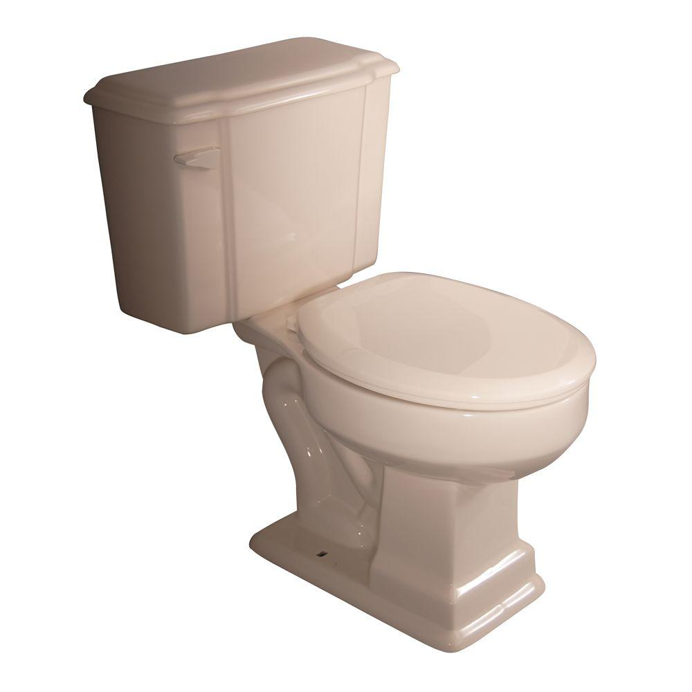 Pegasus Constitution 2-Piece 1.6 GPF Round Toilet in Bisque-DISCONTINUED