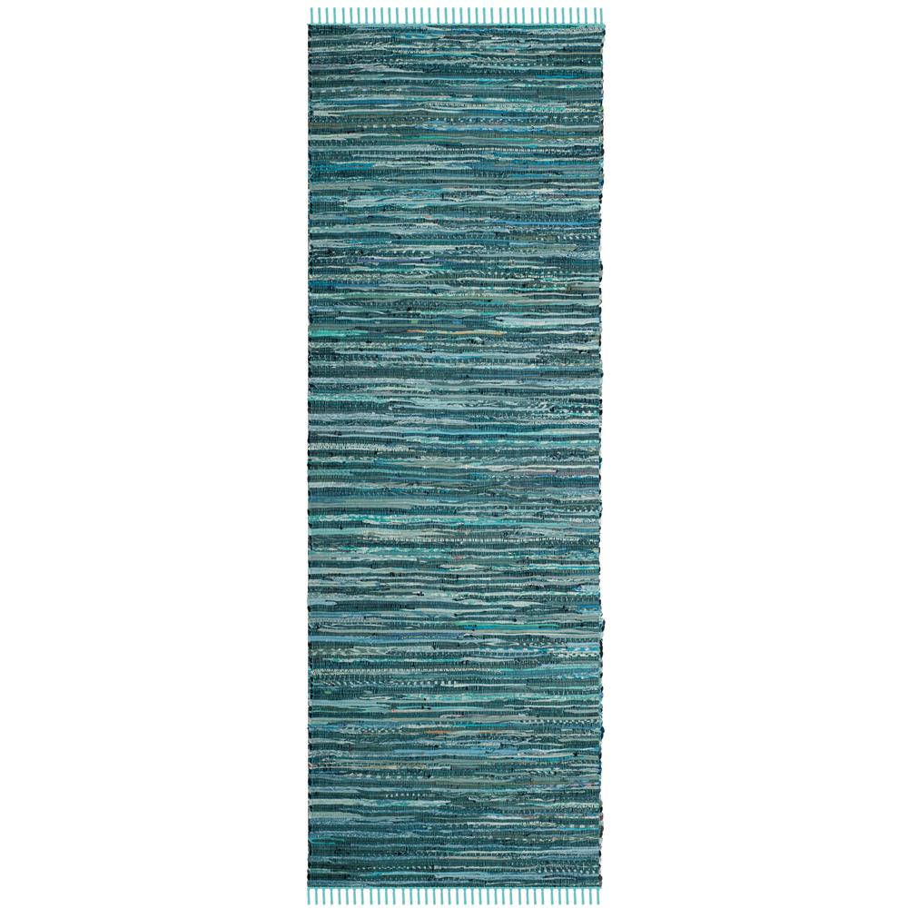 Safavieh Rag Rug Turquoise Multi 8 Ft X 10 Ft Area Rug: Safavieh Rag Rug Turquoise/Multi 2 Ft. 3 In. X 10 Ft