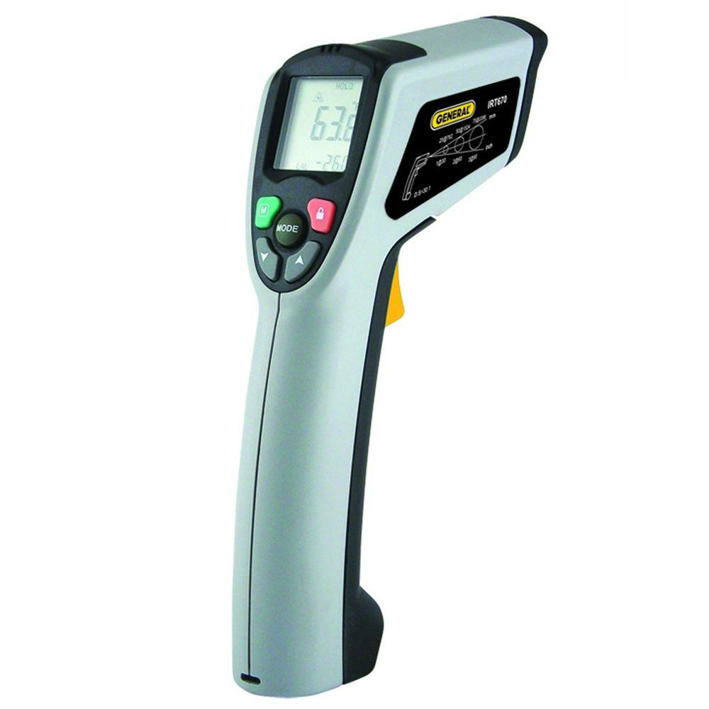 General Tools Laser Temperature Non-Contact High Temperature Infrared Thermometer with 30:1 Spot Ratio