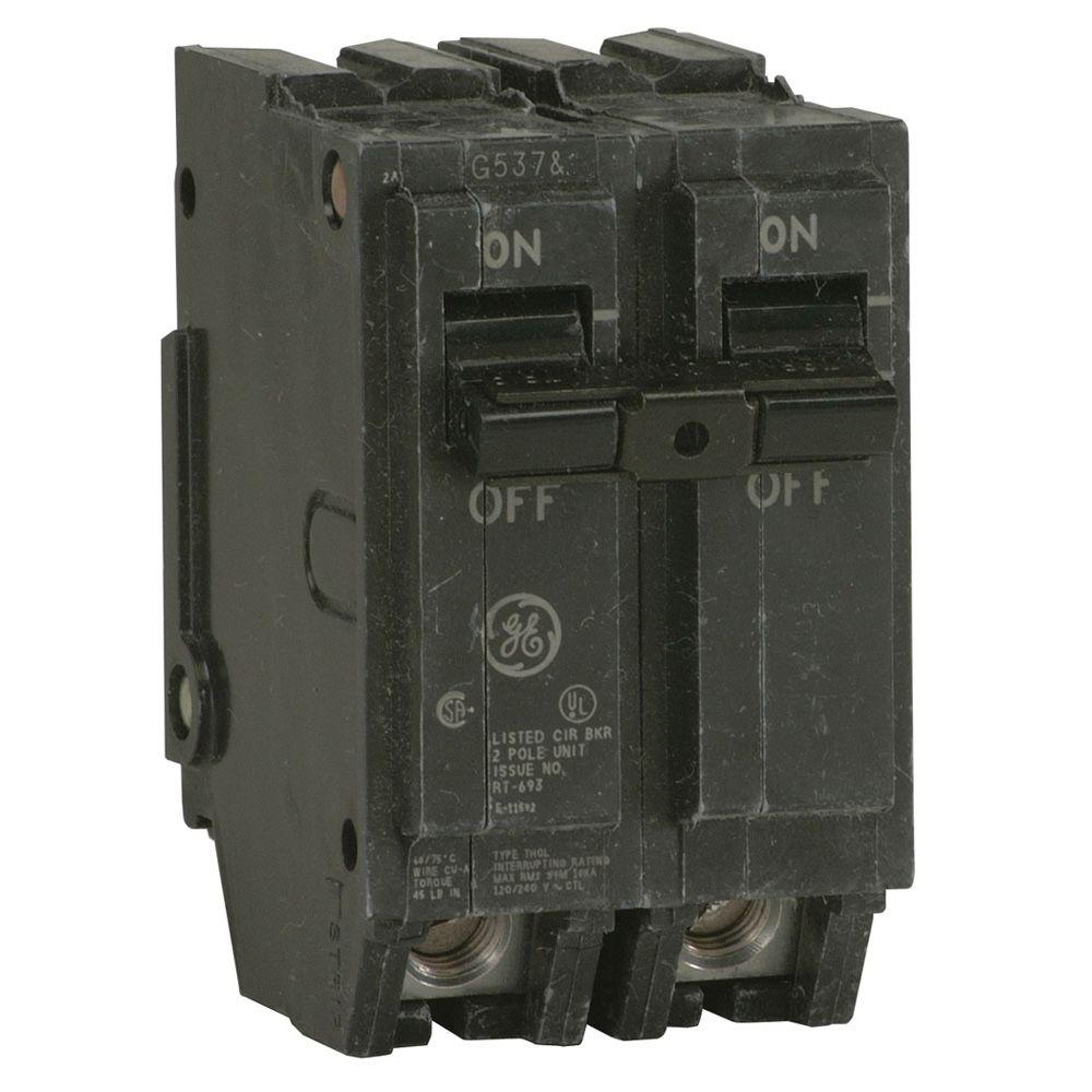 Ge Q Line 30 Amp 2 In Double Pole Circuit Breaker Thql2130 The Box