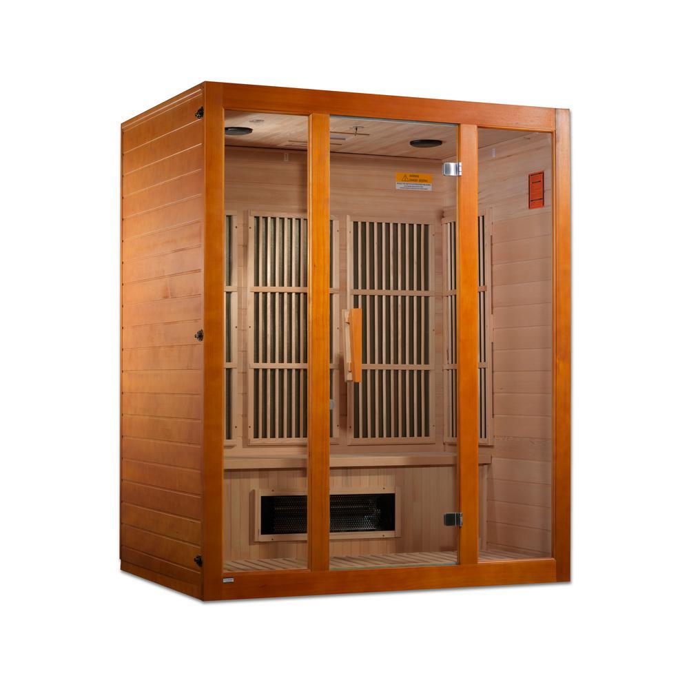 Maxxus Alpine Lifesauna 3-Person Upgraded Infrared Sauna