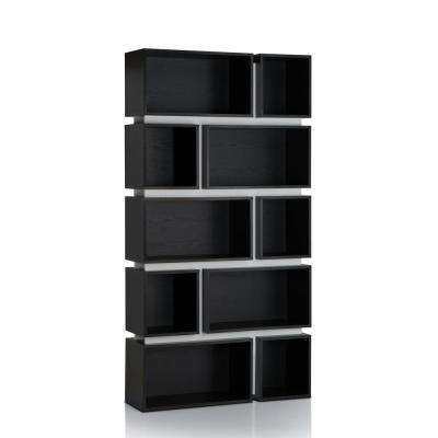 Lamar Black and White Bookcase