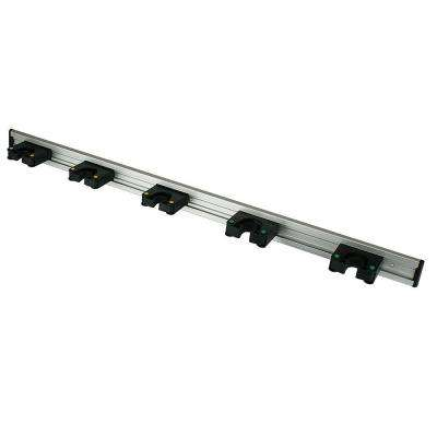 36 in. Tool Bar with 5-Grips in Black