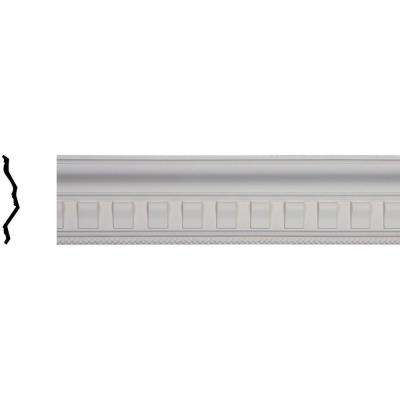 5 in. x 7-1/4 in. x 95-7/8 in. Polyurethane Nouveau with Bead Crown Moulding