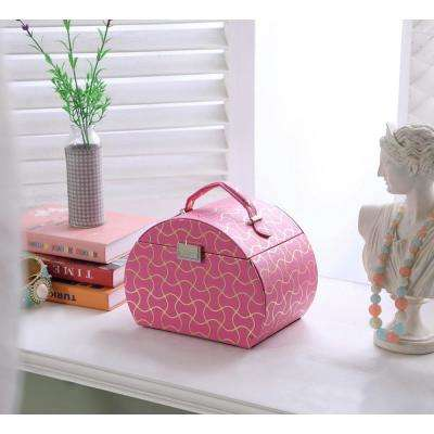 6.8 in. Hot Pink Travel Jewelry Case