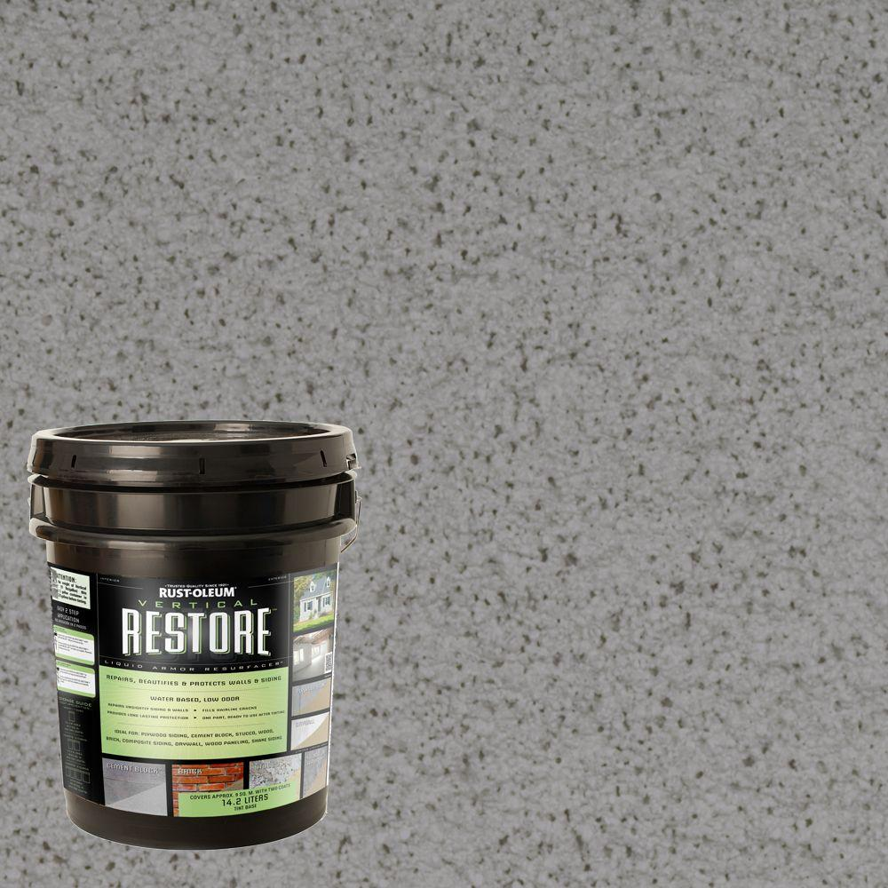 Rust-Oleum Restore 4-gal. Gainsboro Vertical Liquid Armor Resurfacer for Walls and Siding