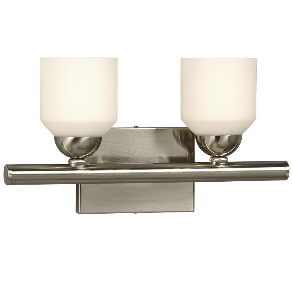 Filament Design Negron 2-Light Brushed Nickel Incandescent Bath Vanity Light